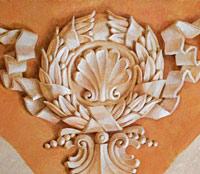 Образец альфейной имитации лепнины