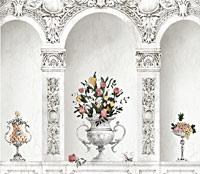 Эскиз росписи с арками