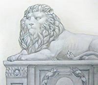 Эскиз росписи на стене