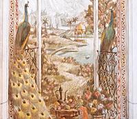 Эскиз роспись Павлины