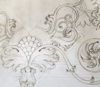 Картон к росписи потолка