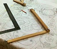 В работе над картонами