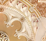 Роспись на потолке эклектика
