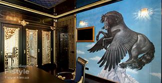 Роспись стен в кабинете   Студия росписи Гервь