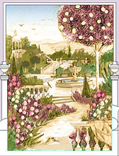Эскиз росписи парк