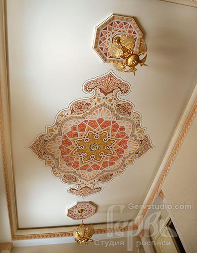Роспись потолка орнаментальная   Студия росписи Гервь   Киев