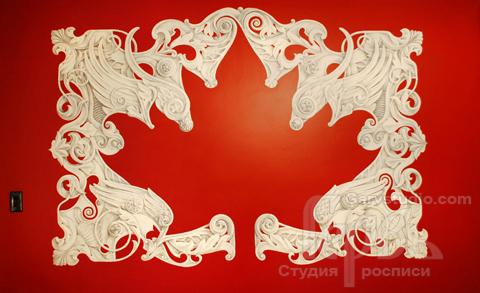 Роспись стен   Студия росписи Гервь   Канадский флаг