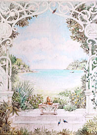 Эскиз к росписи стены