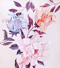 Образец цветов   роспись мебели