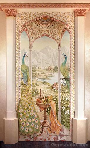 Роспись стен пейзаж   Студия росписи Гервь   Киев