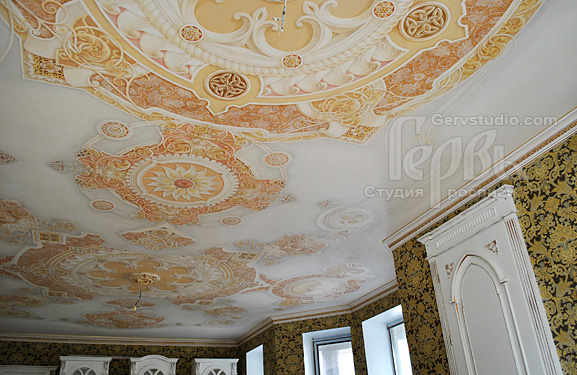 Готовая роспись потолка  Студия росписи Гервь   Киев